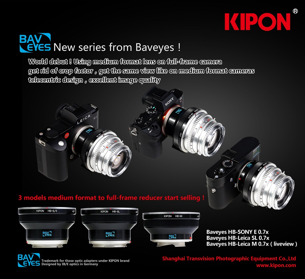 Kipon Focal Reducer, using medium format lens with full frame camera as medium format Angle and Depth of Field, but…