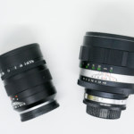 4 type of 135mm f1.8 lenses produced during 60-70 in Japan